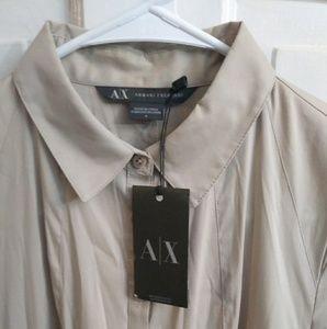Armani Exchange Women's Tan Flair Dress Size 4